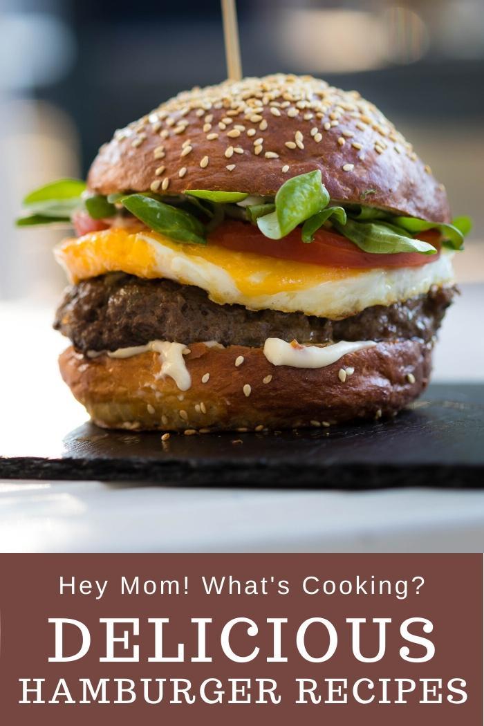 Delicious Hamburger on a slate plate