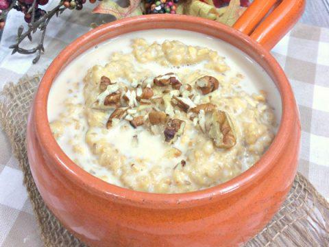 Instant Pot Pumpkin and Maple Syrup Porridge