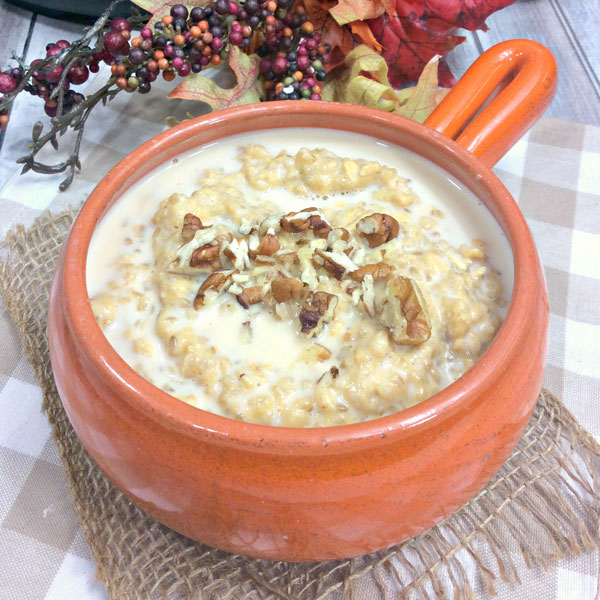instant pot porridge with pumpkin and maple syrup