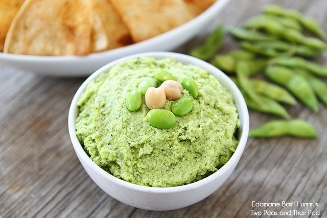 Edamame Basil Hummus | Edamame Hummus Recipe