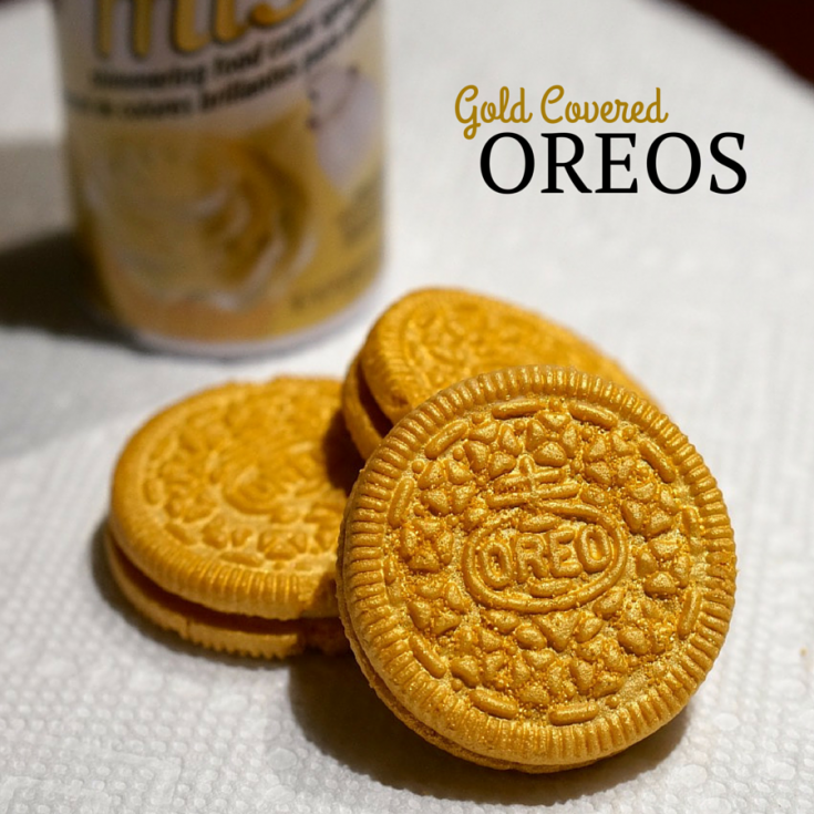 How to Make Gold Covered Oreos
