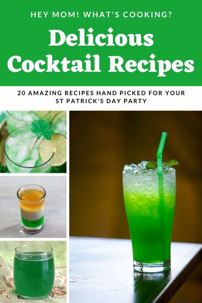 delicious cocktail recipes for st Patrick's Day