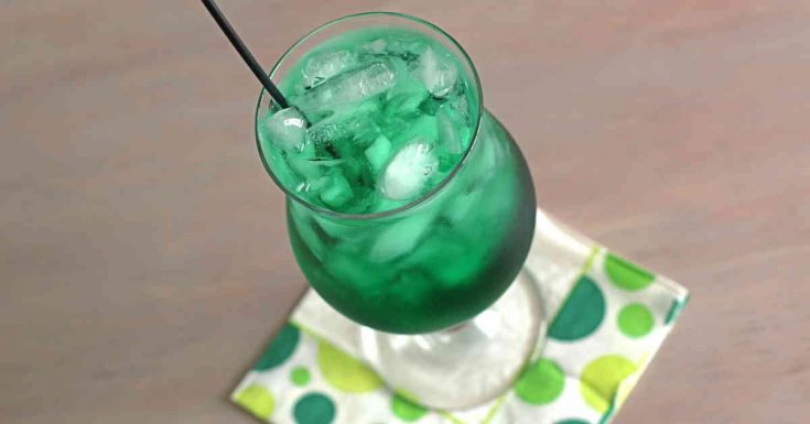 Misty Mint drink recipe, with just two little ingredients
