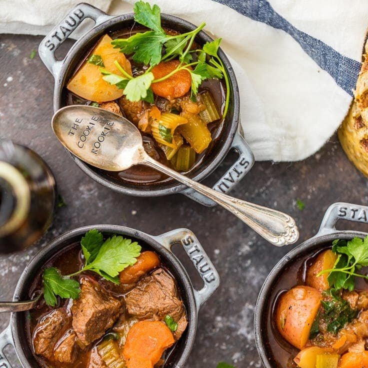 Irish Guinness Beef Stew (Easy Slow Cooker Beef Stew)