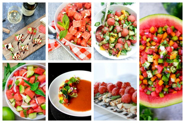 watermelon sides and salads collage picture